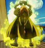 El Drago cargando su ataque