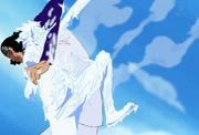 Kuzan Defeats Luffy