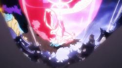 Rufy colpisce Kaido