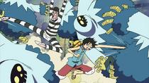 Bon Kurei dan Luffy Bekerja Sama