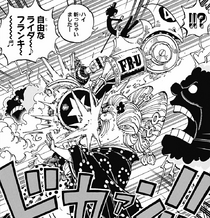 Franky and Brook Attack Big Mom and Zeus