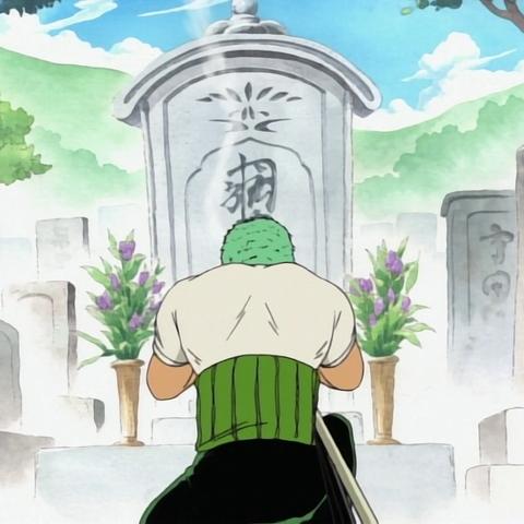 La tomba di Kuina nell'anime
