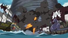 Los Piratas Bestias bombardean a Zunisha