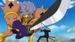 Pica combat Zoro au sabre