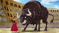 Haki de Luffy contra el Toro Bravo