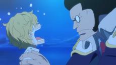 Rosinante conoce a Sengoku