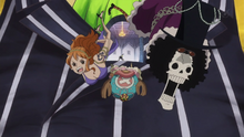 Sanji libera a su tripulación del cuerpo de Bege