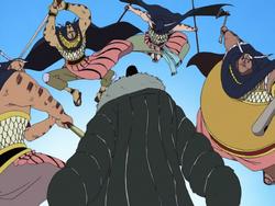Tsumegeri attaccano Crocodile