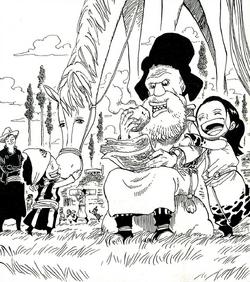Tonjit with his grandchildren