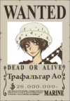 Трафальгар Ао Wanted Poster