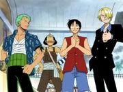 Luffy und seine Männer haben den Arlong Park gestürmt