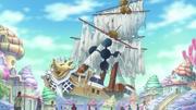 Navire Dragons Célestes détruit par Rois des Mers