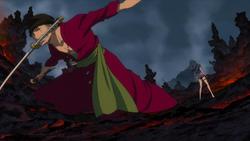 Zoro sconfigge Ain