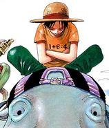 Rozdział 186 Luffy w zielonych spodniach i pomarańczowej koszulce z równaniem matematycznym