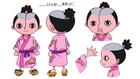 Anime Concept Art Момоносукэ Дресс Роза