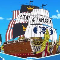 The Yonta Maria at full sail