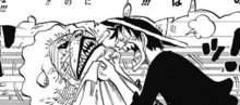Luffy Throttles Pekoms