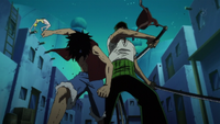 Luffy y Zoro derrotan a Mr. 5 y Miss Valentine