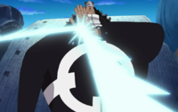 Kuma repeliendo un ataque