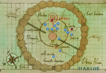 Map of Dressrosa in the Anime