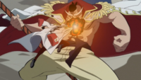 Sakazuki Attacks Whitebeard