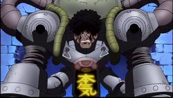 Honki dans son armure robotique
