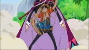 Luffy atrapado en Largo
