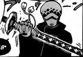 Nodachi de Law imbuida con su habilidad