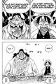Rencontre entre Barbe Noire et Luffy au bar de Mock Town