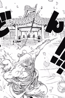 Zoro Cuts Down the Wano Magistrate