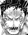 Katakuri's gezicht