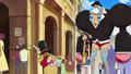 Taille du Soldat comparées à celles de Luffy et Franky