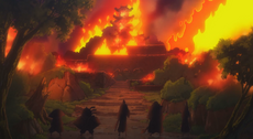 Castillo Oden incendiado