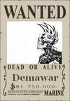 Demawar Wanted Poster