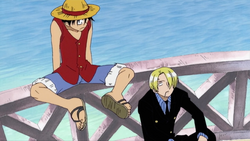 Luffy and Sanji Meet First Time