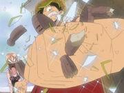 Luffy zerstört den Eternalpose nach Nanimonaishima