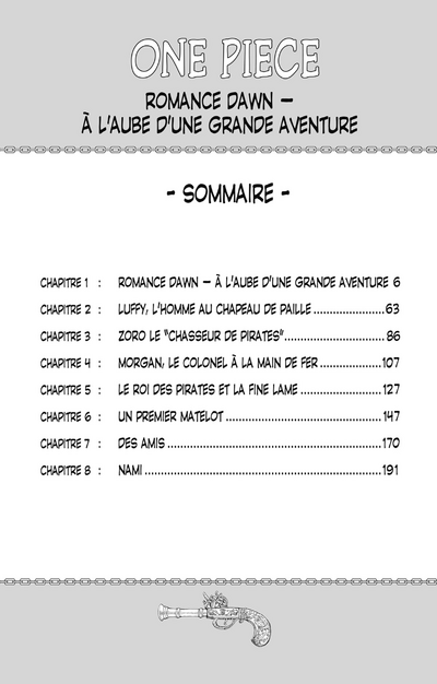 Sommaire Tome 1
