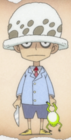 Trafalgar D. Water Law as a Child Anime