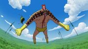 Sanji tritt Big Pan bewusstlos