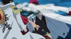 Grount lucha con Luffy por segunda vez
