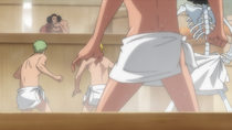 Straw Hats Encounter Kuzan in Hot Spring
