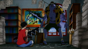 Arlong y Luffy