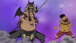 Hannyabal affronta Rufy