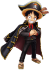 Luffy Black Suit Thousand Storm