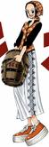 Makino colorée dans le Manga
