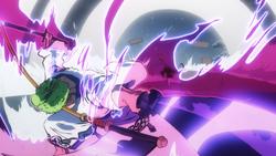 Zoro ferisce Kamazo