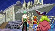 Kokoro hat die Mugiwara-Piraten zum Rocketman geführt