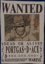 Portgas D. Ace Deuxième Avis de Recherche