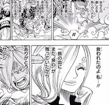 Reiju agradece a Sanji