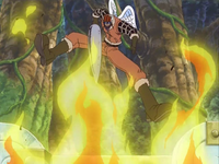 Shura utilizza la sua arma